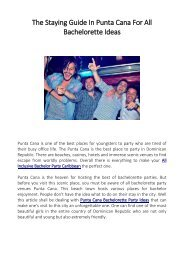 The Staying Guide In Punta Cana For All Bachelorette Ideas