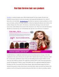Puri Hair Reviews hair care products pdf