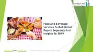 Food And Beverage Services Global Market Report 2019