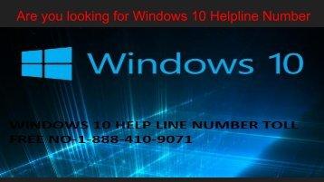 Windows 10 Helpline Number