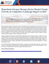 Hyperbaric Oxygen Therapy Device Market Trends, Growth, & Competitive Landscape Report to 2023