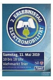 2. Erlebnistag Elektromobilität - Samstag, 11. Mai 2019