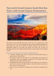Top-notch Grand Canyon South Rim Bus Tours
