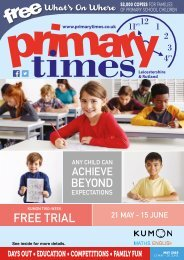 Primary Times Leicestershire May edition