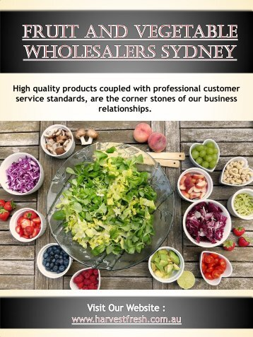 Fruit And Vegetable Wholesalers Sydney | Call - 02 9746 6503 | harvestfresh.com.au
