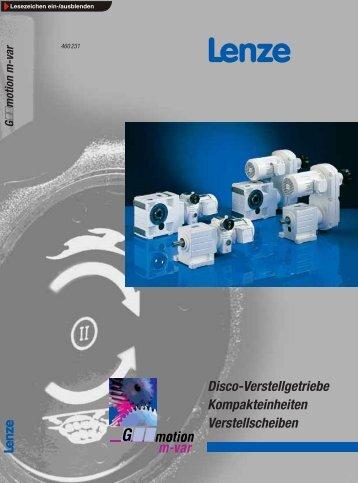 Katalog Disco-Verstellgetriebe / Kompakteinheiten ... - Lenze
