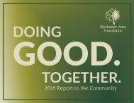 Rochester Area Foundation 2018 Annual Report