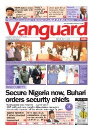 10052019 - INSECURITY:Secure Nigeria now, Buhari orders security chiefs