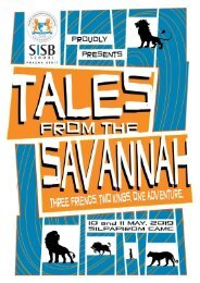 Tales From The Savannah (Souvenir Programme)