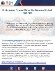 Fire Retardant Plywood Market Size Status and Outlook 2018-2028
