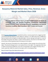 Buoyancy Material Market Sales, Price, Revenue, Gross Margin and Market Share 2028