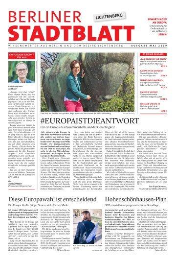 Berliner Stadtblatt Lichtenberg | Mai 2019