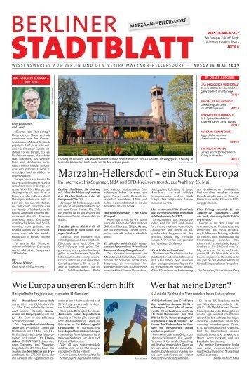 Berliner Stadtblatt Marzahn-Hellersdorf | Mai 2019