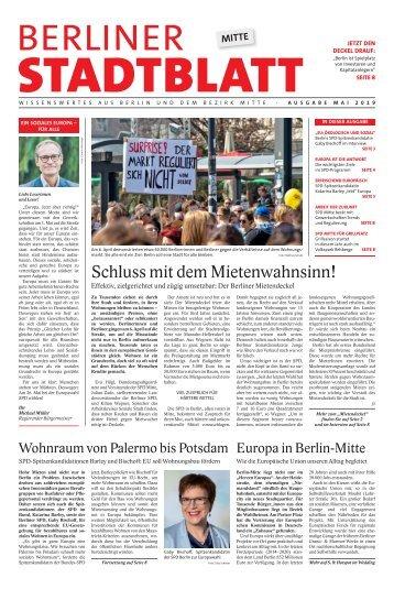 Berliner Stadtblatt Mitte | Mai 2019