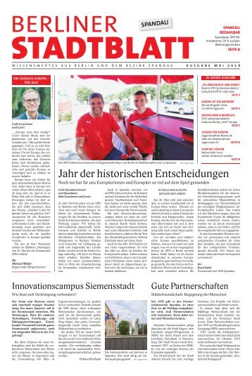 Berliner Stadtblatt Spandau | Mai 2019