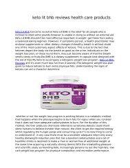 keto lit bhb reviews health care products pdf