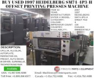 Buy Used 1997 Heidelberg SM74-4P3-H Offset Printing Presses Machine