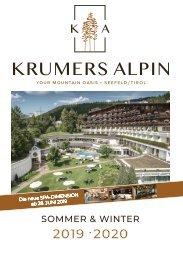 Krumers Alpin - Preisliste 2019 / 2020  |  DEUTSCH