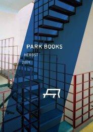 Park Books Vorschau Herbst 2019