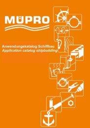 MÜPRO Maritim Anwendungskatalog Schiffbau