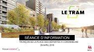 Séance d'information sur le Tronçon du Tram de la Place des déportés à Coronmeuse