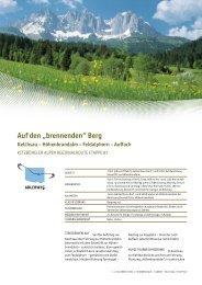 """Auf den """"brennenden"""" Berg Kelchsau – Höhenbrandalm - Tirol"""