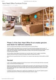 Xero Head Office Furniture Fit-Out - acs365 - Interiors