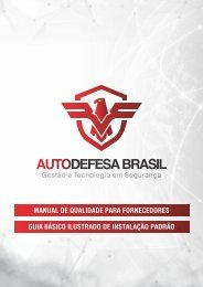Auto Defesa - Manual Padrão de Instalação - A3