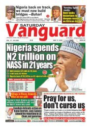 11052019 - Nigeria spends N2 trillion on NASS in 21 years