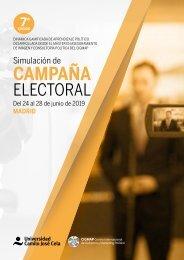 Folleto Simulación de Campaña Electoral CIGMAP 2019
