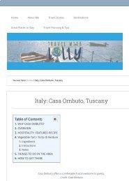 Italy Casa Ombuto, Tuscookany, Tuscany - Travel with Lolly 2019