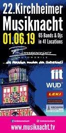 Programmheft der Kirchheimer Musiknacht 2019