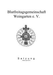 Satzung der Blutfreitagsgemeinschaft Weingarten e. V.