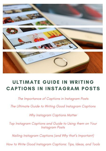 Ultimate Guide in Writing Captions in Instagram Posts