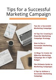 Tips for a Successful Marketing Campaign