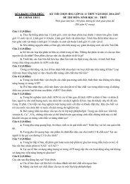 Bộ đề thi học sinh giỏi môn Sinh Học 10 - 11 (15 đề chính thức có lời giải chi tiết)