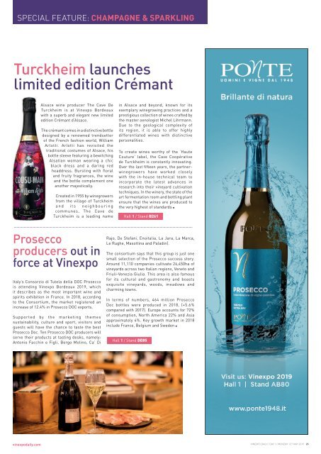 Vinexpo Daily 2019 - Day 1 Edition