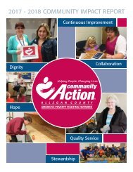Community Action of Allegan County 2017-2018 Annual Report