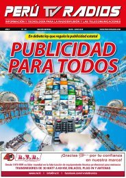 REVISTA PERÚ TV RADIOS EDI. MAY-JUN 2019