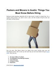 Packers and Movers in Austin_ Things You Must Know Before Hiring