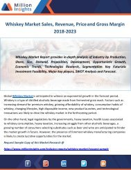 Whiskey Market Sales, Revenue, Price and Gross Margin 2018-2023