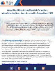 Wood-Fired Pizza Ovens Market Information, Manufacturing Base, Sales Area and Its Competitors 2023