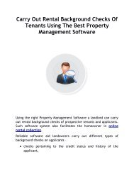 Carry Out Rental Background Checks Of Tenants Using The Best Property Management Software