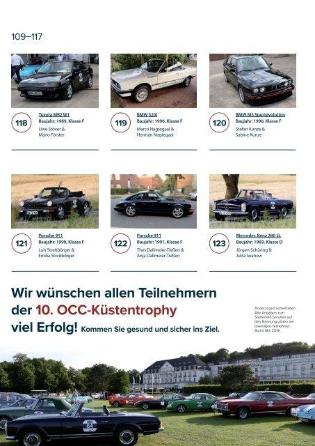 Programmheft 10.OCC-Küstentrophy 2019