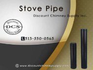Stove Pipe at a low-cost price from Discount Chimney Supply Inc.