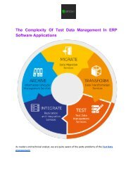 The Complexity Of Test Data Management In ERP Software Applications