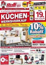 Küchen-Sonderverkauf, Rabatt-Sonderaktion bei Rolli SB-Möbelmarkt in 65604 Elz/Limburg