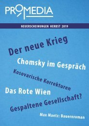 Promedia Verlag Vorschau Herbst 2019