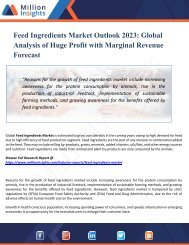 Feed Ingredients Market Outlook 2023 - Industry Analysis, Opportunities, Segmentation and Forecast