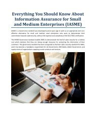 Everything You Should Know About Information Assurance for Small and Medium Enterprises (IASME)